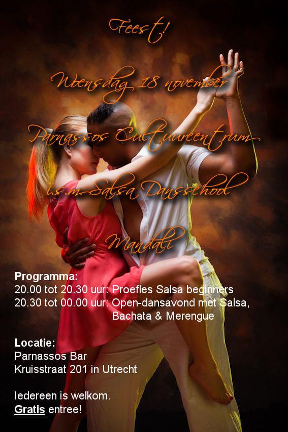 Salsafeest, dansschool Salsa Mandali, Utrecht